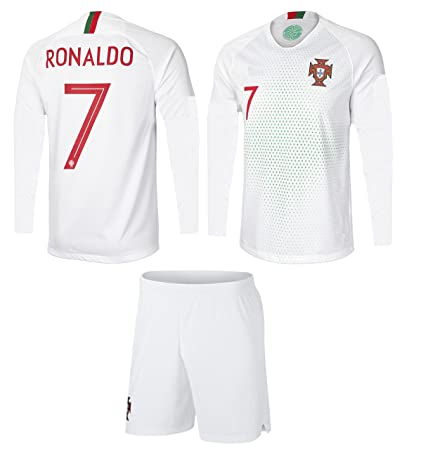 299c15907 Portugal Cristiano Ronaldo  7 Soccer Jersey and Shorts Kids Youth Sizes  Away Football World Cup