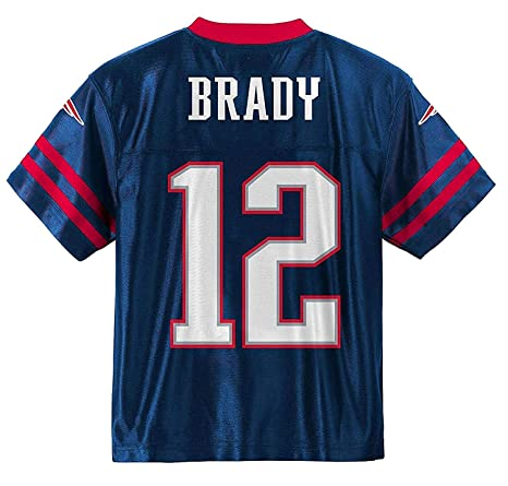 buy popular fd3cc 93be5 Outerstuff Tom Brady New England Patriots #12 Navy Blue Kids Home Player  Jersey