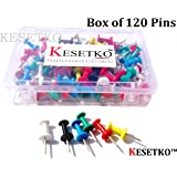 KESETKO™ Thumb Pins, Push Pins, (120 Pcs) Multicolord for Offices, Homes