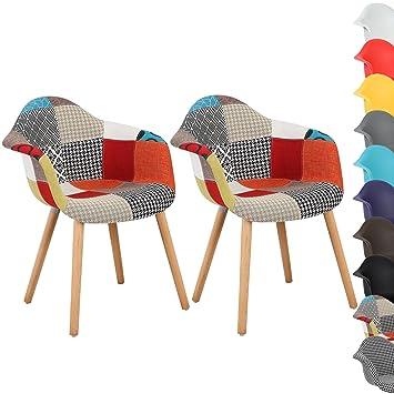 WOLTU® BH37mf 2 Esszimmerstühle 2er Set Esszimmerstuhl Mit Lehne Design  Stuhl Küchenstuhl Holz