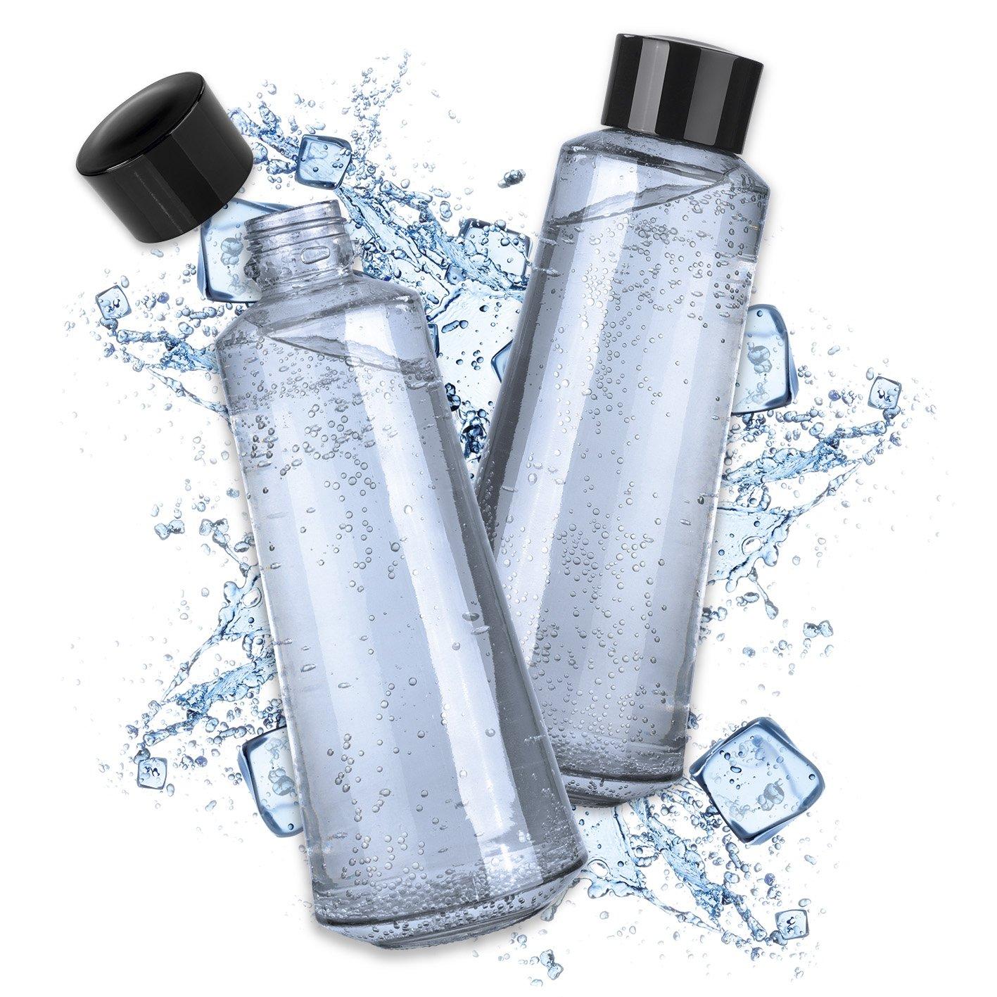 Soda Trend 07782 Glasflaschenersatz 2er Set 720ml | Für Soda Trend  Wassersprudler Deluxe | Zusatzflaschen