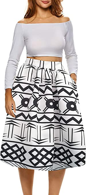 African Print Skirts for Women Boho Plus Size