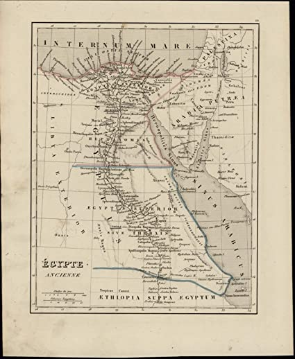 Ancient Egypt Nile River Arabia Red Sea Sinai Peninsula Nice 1838