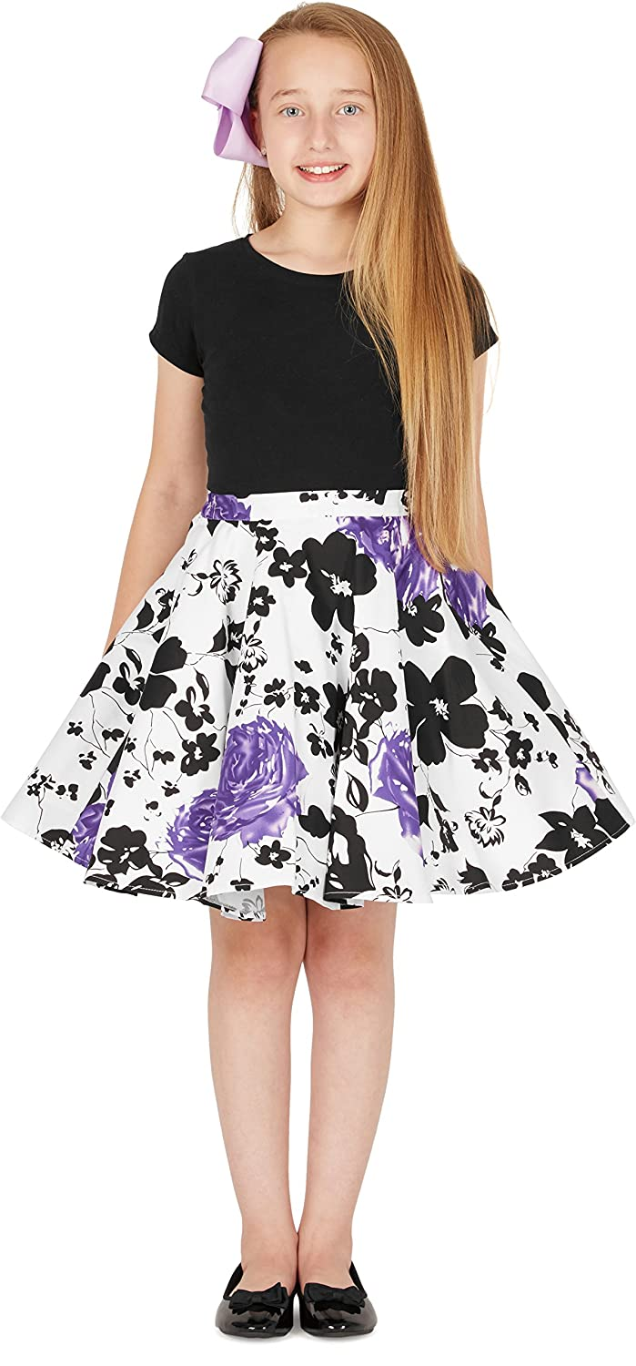 BlackButterfly Kids Vintage 50s Full Circle Girls Swing Skirt