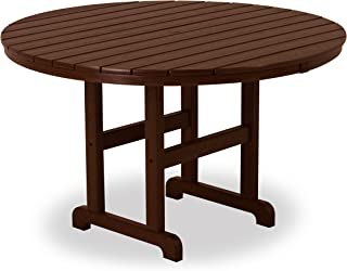 product image for POLYWOOD RT248MA Round Dining Table, 48-Inch, Mahogany