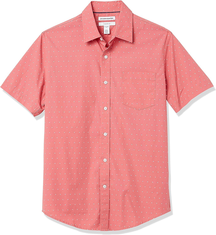 Amazon Essentials Slim-fit Short-Sleeve Casual Poplin Shirt Button-Down-Shirts Hombre