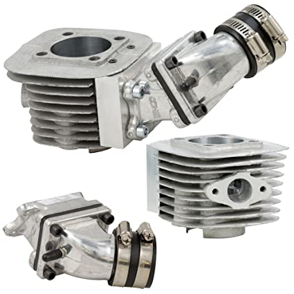 BBR Tuning Complete High Performance Racing Series DIO Cylinder Body & Reed  Valve Assembly with 21mm OKO Race Carburetor and Filter for 66/80cc