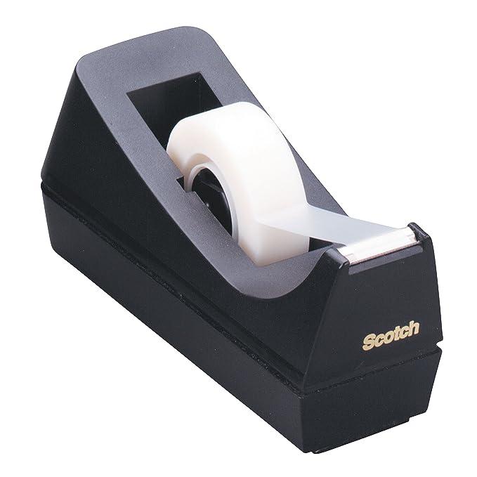 Scotch C38 - Dispensador de cinta adhesiva (25 x 19 mm), color negro: Amazon.es: Oficina y papelería