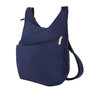 Travelon Anti-Theft Drape Front Shoulder Bag, Lush Blue