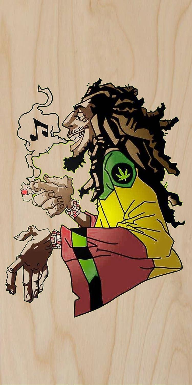 Amazon Com Rasta Rastafari Movement Smoking Weed Music Plywood Wood Print Poster Wall Art Posters Prints