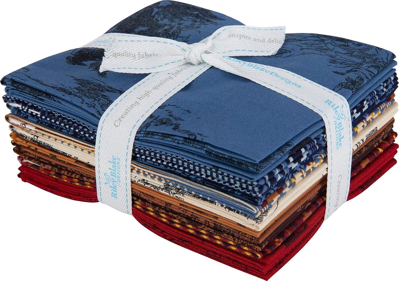 Back of the Chutes Fat Quarter Bundle by Hugh Cabot for Riley Blake Designs 7 Fabrics