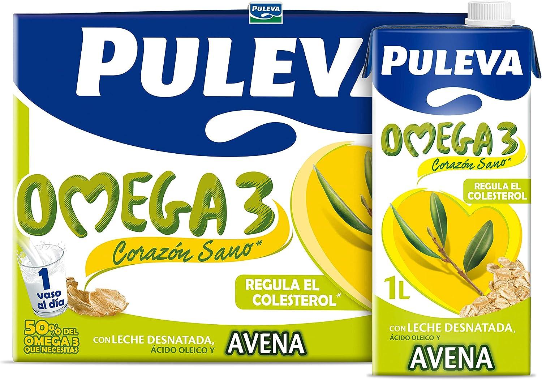 Puleva Omega 3 Leche con Omega 3 y Avena - 6 de 1000 ml (Total ...
