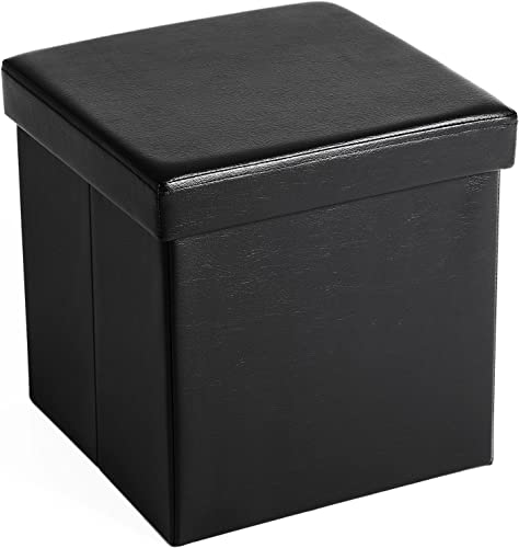 SONGMICS 15″ x 15″ x 15″ Storage Ottoman Cube/Footrest Stool/Coffee Table/Puppy Step
