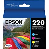 Epson T220120-BCS DURABrite Ultra Black & Color Combo Pack Standard Capacity Cartridge Ink (WF-2760, WF-2750, WF-2660…