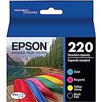 Epson T220120-BCS 220, Black and Colour Ink Cartridges, C/M/Y/K 4-Pack