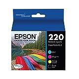 Epson T220120-BCS DURABrite Ultra Black & Color Combo Pack Standard Capacity Cartridge Ink (WF-2760, WF-2750, WF-2660, WF-2650, WF-2630, XP-424, XP-420, XP-320),Black and Color Combo Pack