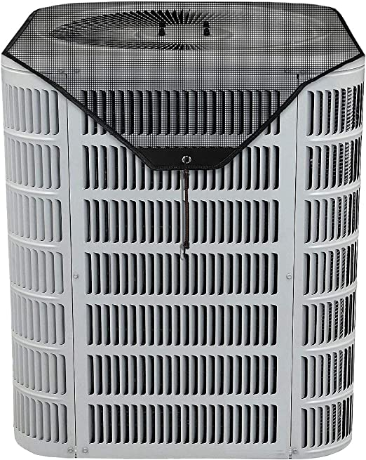 LBG Outdoor Central Air Conditiner Cover,Leaf Guard Mesh Design top AC Defender for Outside Units Fits Most Standard American AC Condenser Unit 28/×28