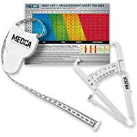 Body Fat Caliper and Measuring Tape for Body - Skinfold Calipers and Body Fat Tape Measure Tool for Accurately Measuring…