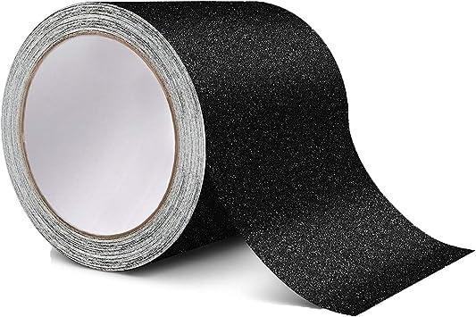 color negro de 15 cm x 5 m Cinta adhesiva antideslizante de alto agarre