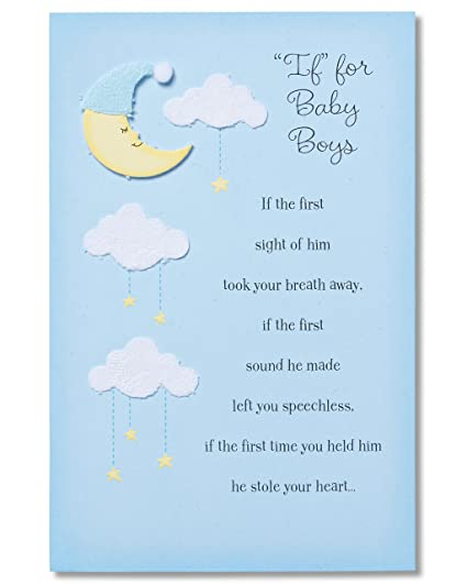 Amazon american greetings if for baby boys new baby american greetings quotifquot for baby boys new baby congratulations card m4hsunfo