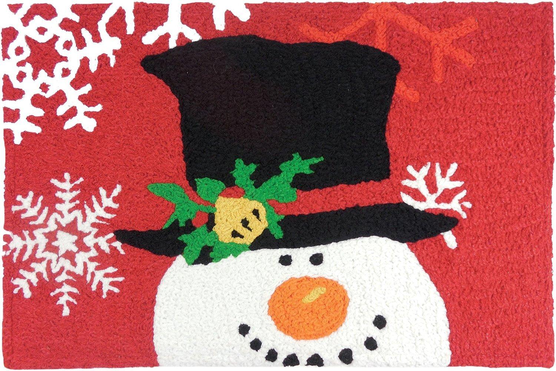 """Jellybean Rug Snowman With Magic Hat 21"""" X 33"""""""