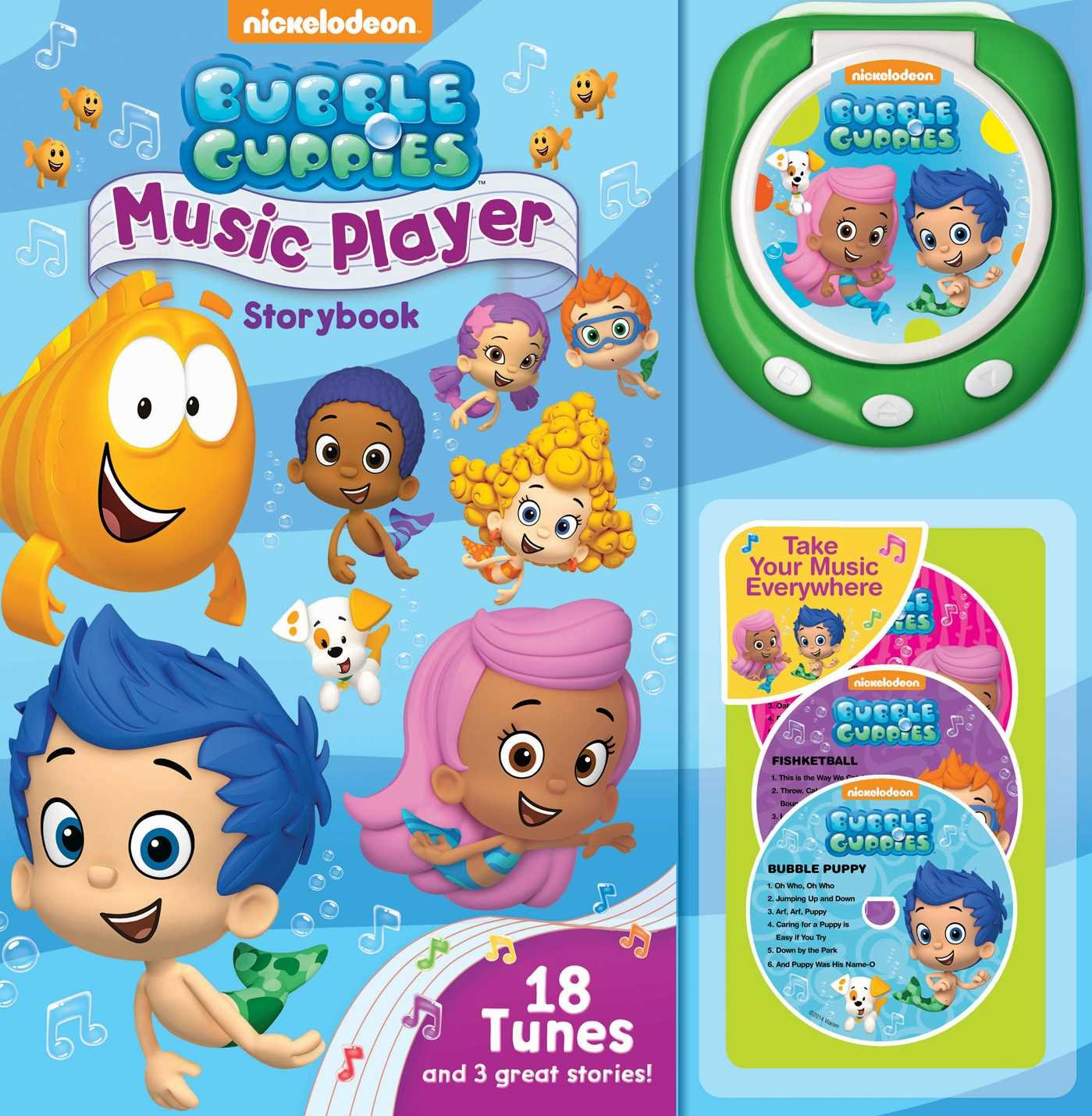 bubble guppies music player storybook nick jr 8601411326981