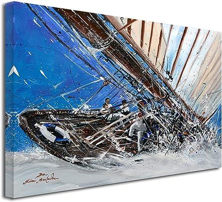 Tableau Reproduction Peinture Remi Bertoche Sur Yacht Show Grand Format Impression Sur Toile Decoration Murale Design Moderne Deco Maison Cuisine Salon Chambre Adulte Multicouleur 120x80 Cm Amazon Fr Cuisine Maison