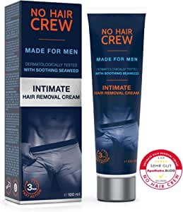 NO HAIR CREW Crema Depilatoria Íntima Premium - Extra Suave Hecha ...