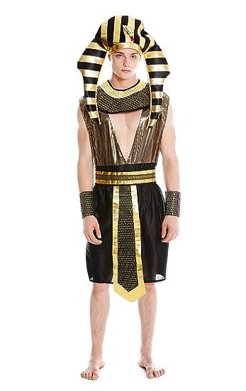 dressmeup Dress Me UP- M-0028-S M Costume Uomo Carnevale Halloween Ramses Faraone  Egiziano Taglia S M  Amazon.it  Giochi e giocattoli f9f3d665dd4