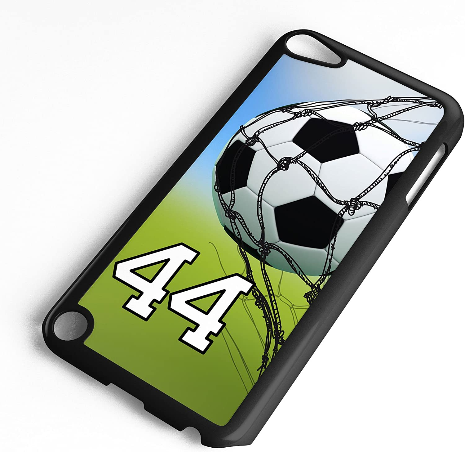 iPod Touch Case Fits 6th Generation or 5th Generation Soccer Ball #0500 Choose Any Player Jersey Number 13 in Black Plastic Customizable by TYD Designs
