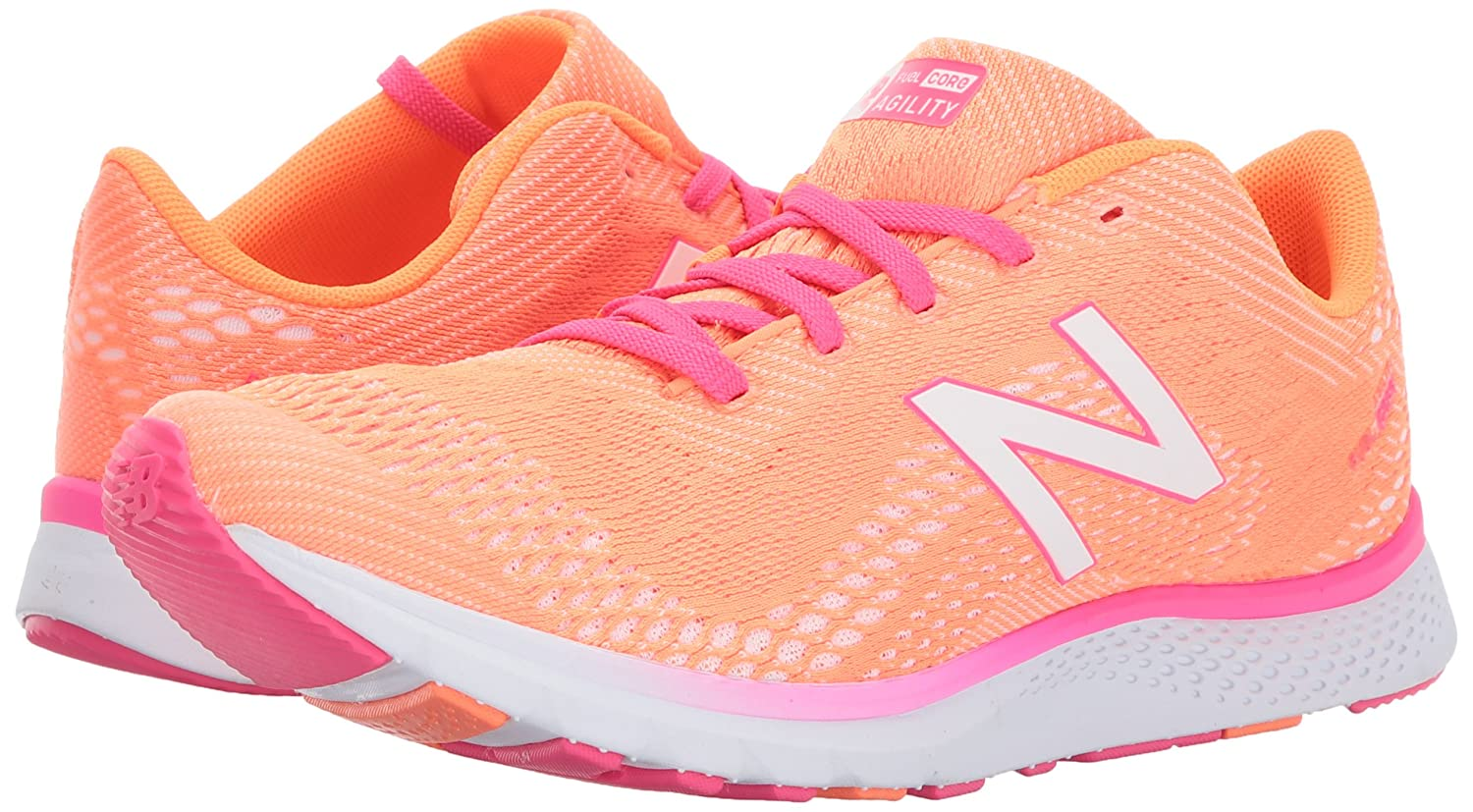 New Balance Women's FuelCore Agility v2 Cross Trainer B01N66HR24 7.5 B(M) US|Vivid Tangerine