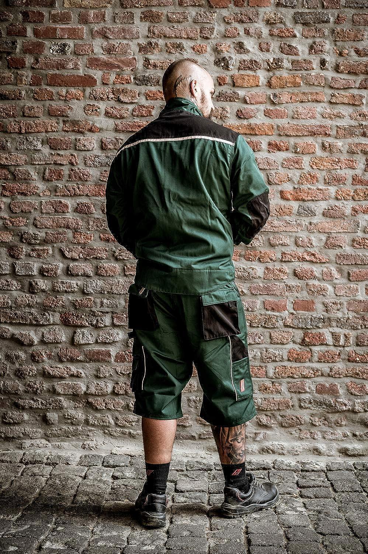 Verdi Pantaloni Corti da Lavoro per LEstate Pantaloncini da Giardinaggio NITRAS Motion Tex Bermuda