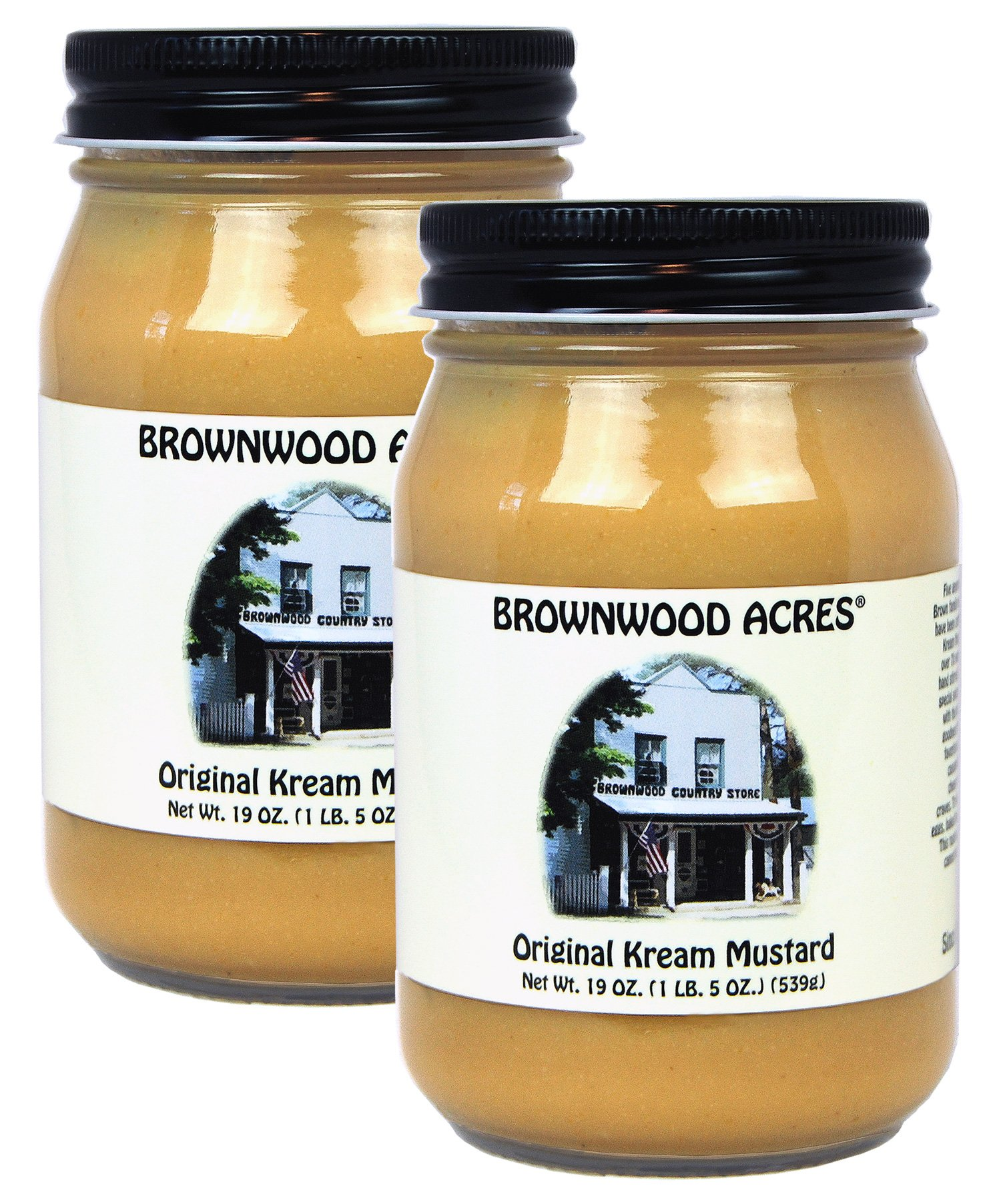 Brownwood Acres Kream Mustard - LARGE - 2 PACK - Shipping Included