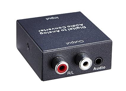 YINGLUN Convertidor HDMI Adaptador convertidor de audio DAC digital óptico coaxial Toslink a estéreo analógico RCA