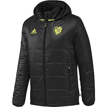 adidas Chelsea Pad Jkt Chaqueta, Hombre, Rojo/Amarillo (Negro/Granit/Amasol), S: Amazon.es: Deportes y aire libre