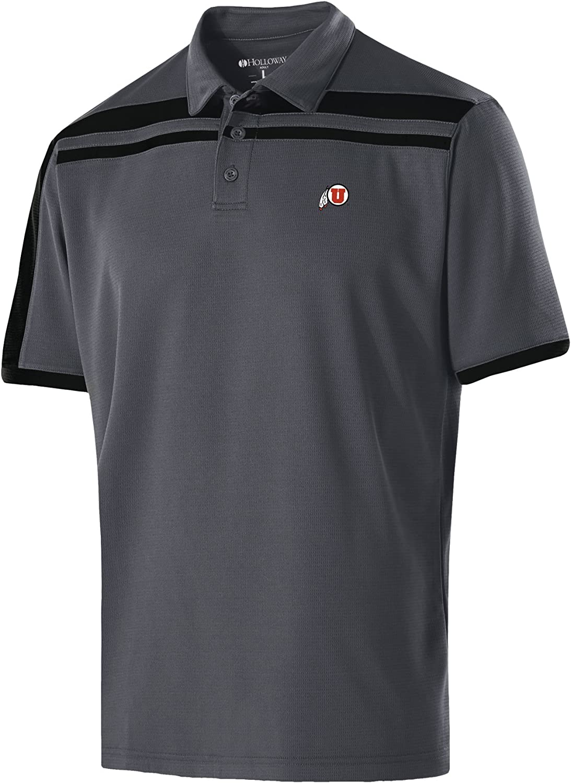 X-Large NCAA Utah Utes Mens Charge Polo Carbon//Black