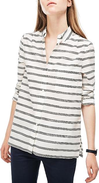 Lacoste - Camisas - para Mujer Blanco Blanco 64: Amazon.es: Ropa y accesorios