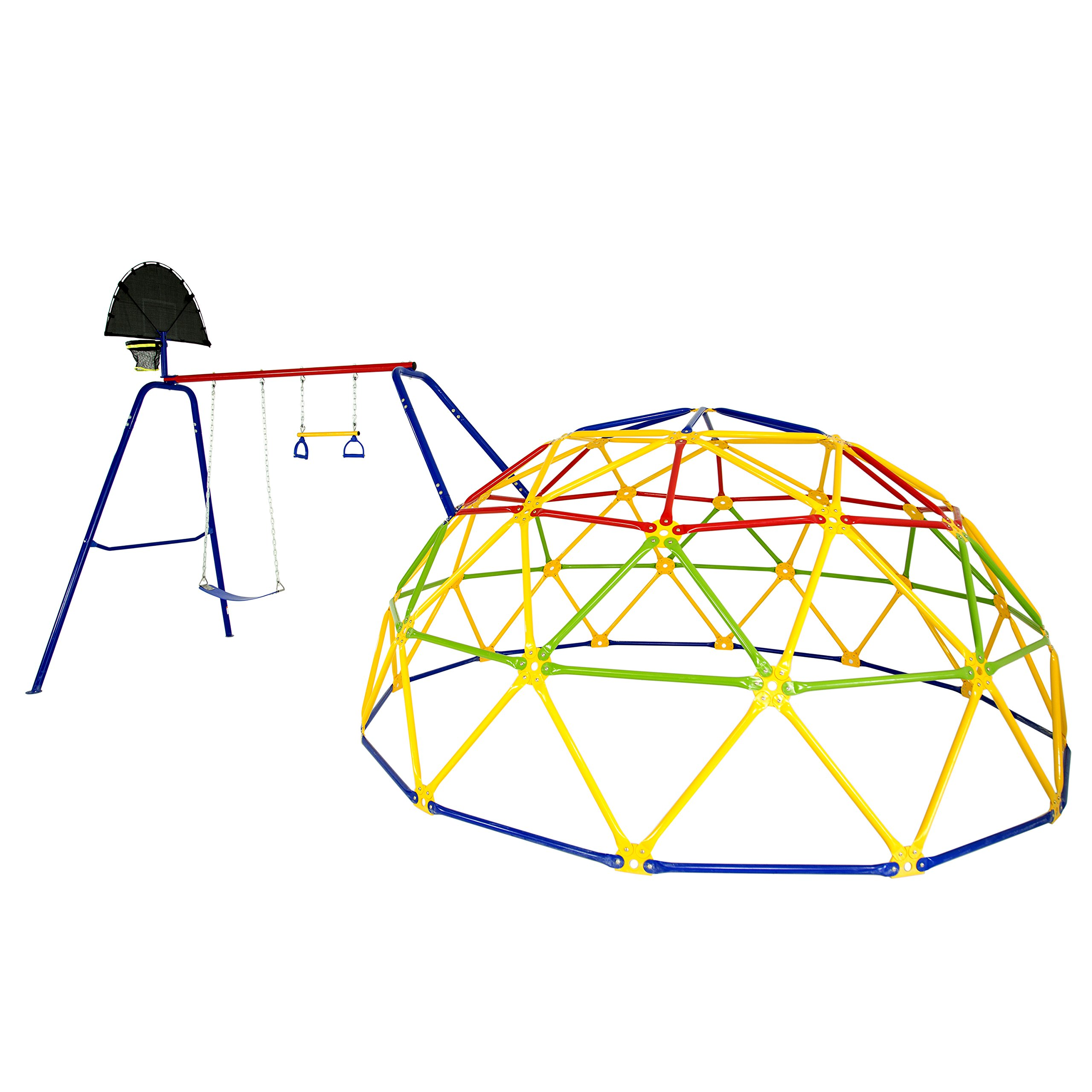 Skywalker Sports Geo Dome Climber with Swing Set by Skywalker Sports (Image #1)
