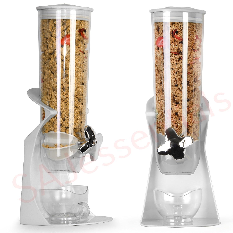 Dispensador para alimentos secos, como cereales, frutos secos, granos de café y especias - Viene en envases individuales: Amazon.es: Hogar