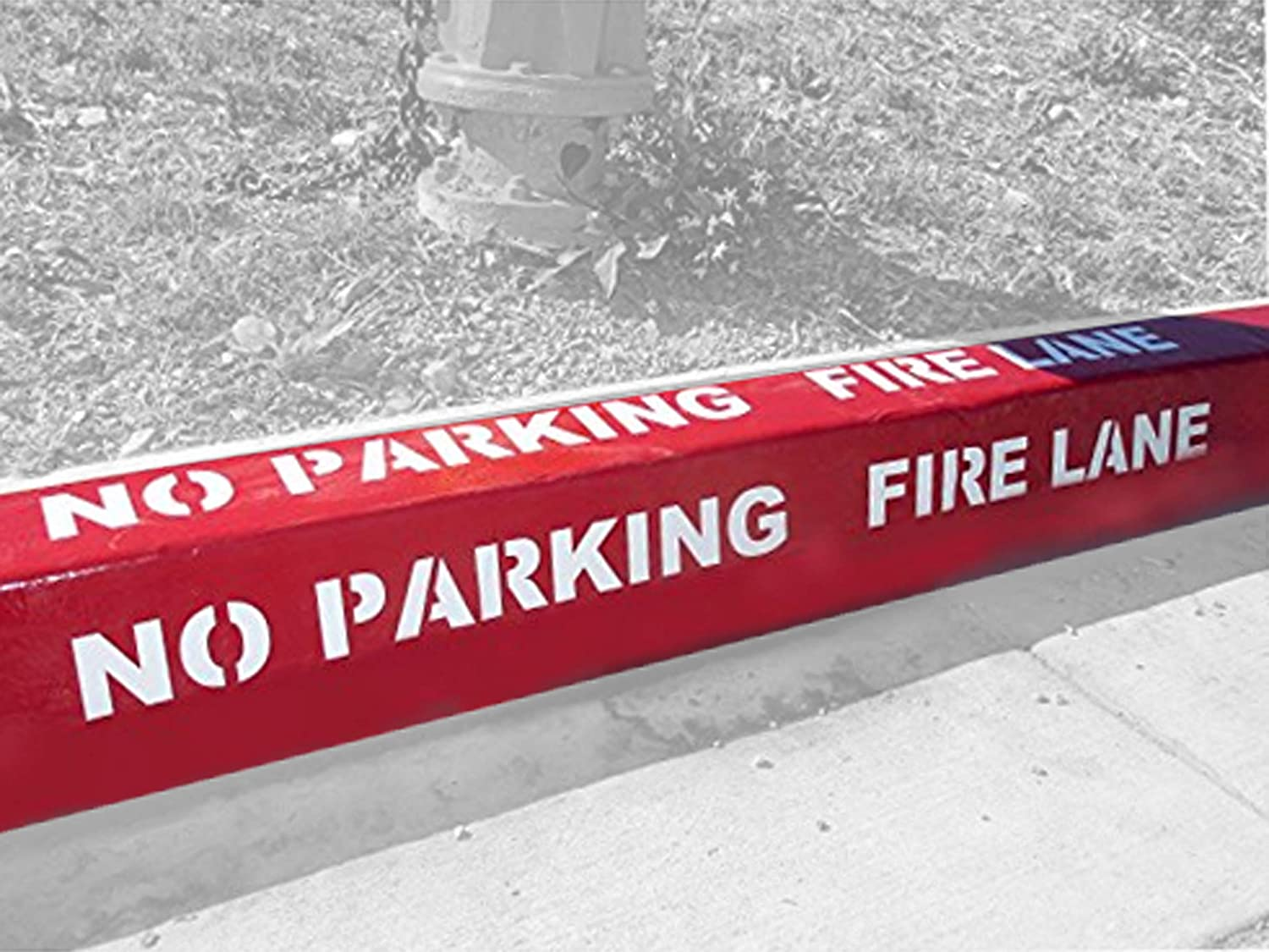 "FIRE LANE PARKING LOT STENCIL 6 INCH LETTERS 40/"" LONG FREE SHIPPING"