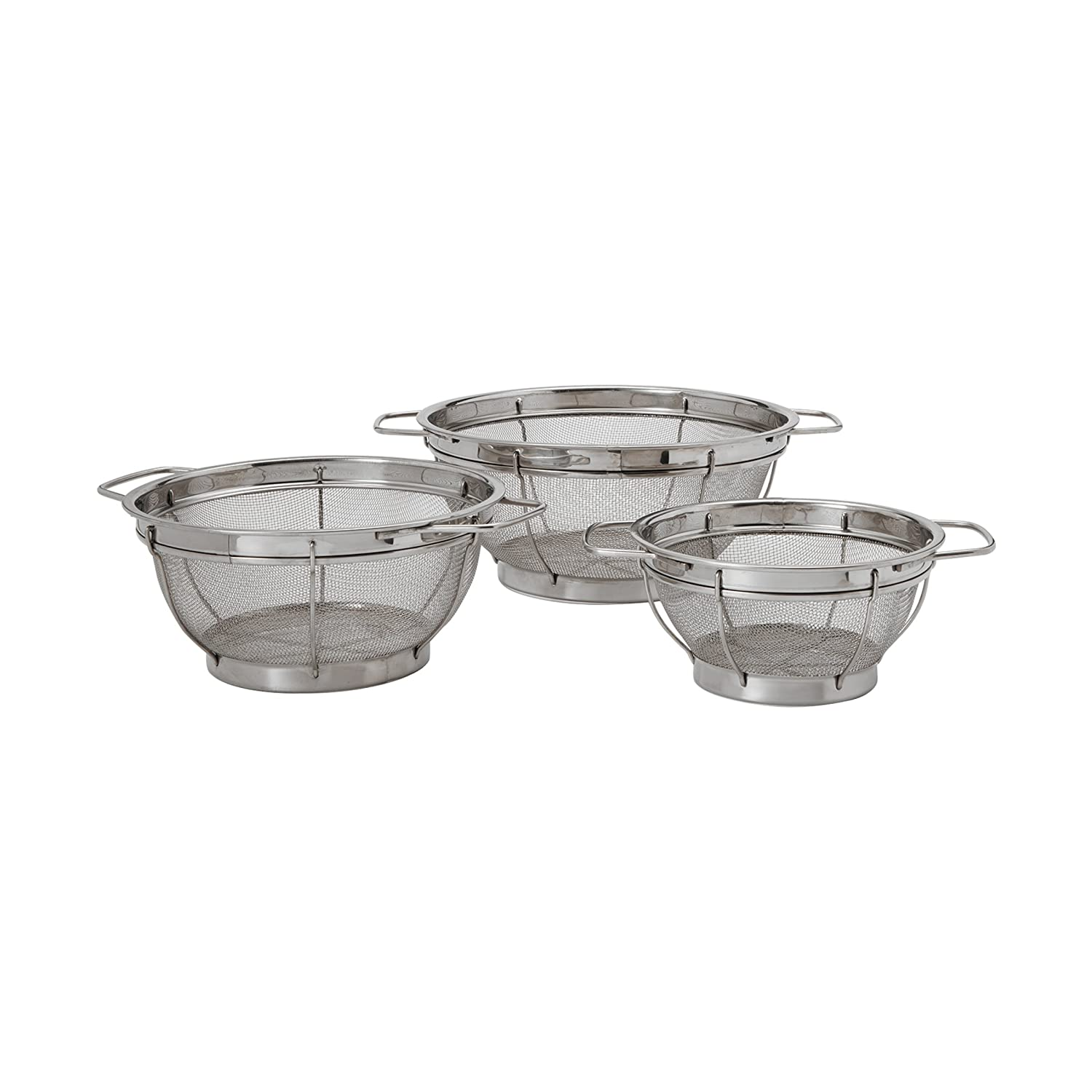 Farberware Stainless Steel Colander Sieves - Set of 3, Multi Sized 5181490