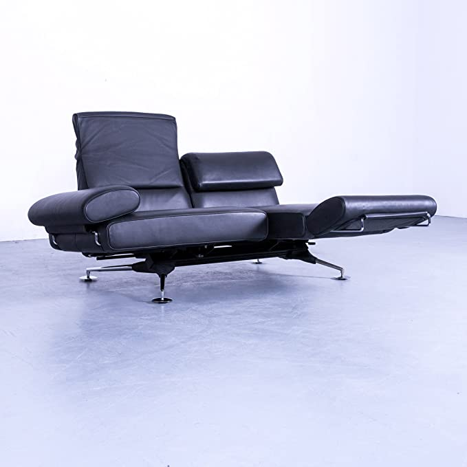 De sede DS 470 - Piel Sofá Negro 2 plazas sofá relax Función ...