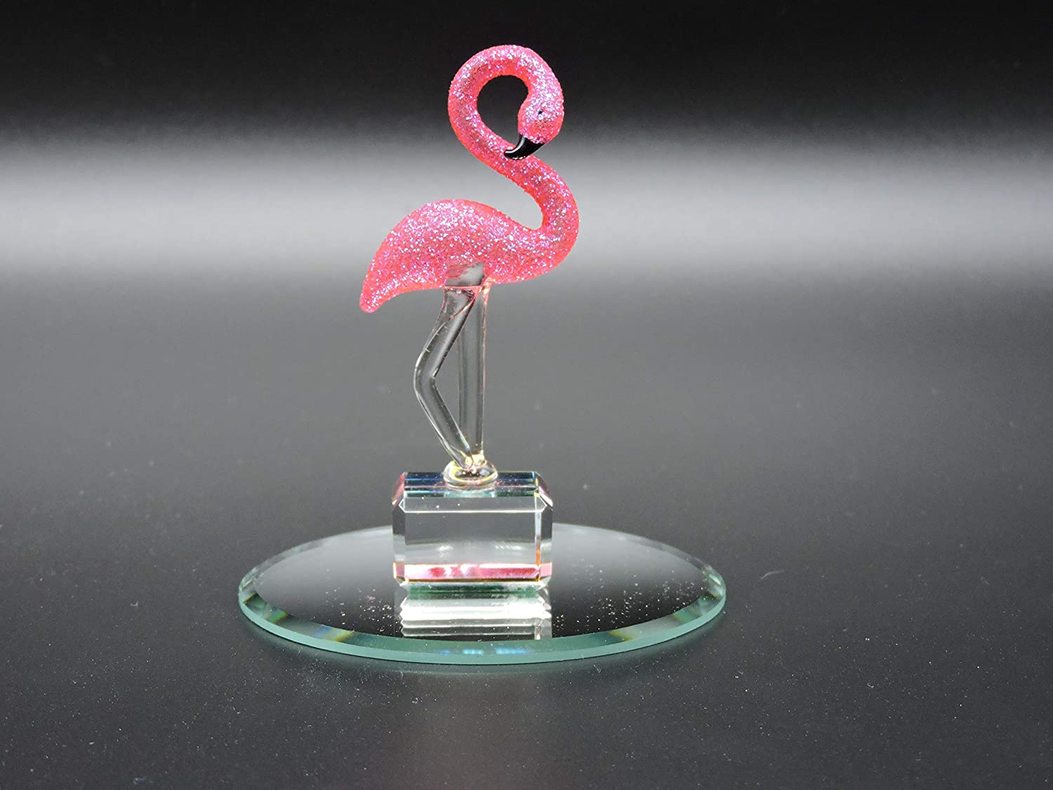 Handmade Glass Flamingo