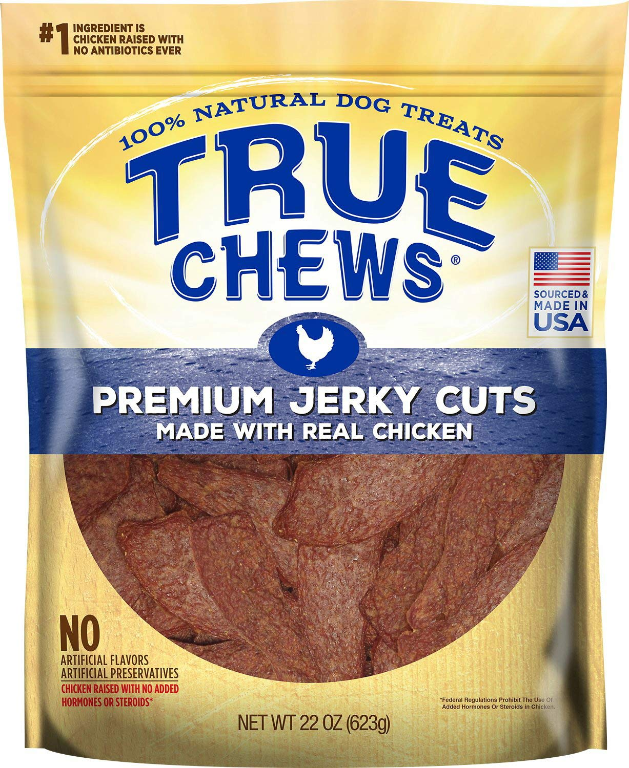 True Chews Tyson Premium Jerky Cuts Dog Treats, Variety Count, 22 Ounce, 2 Count, 8 Pack