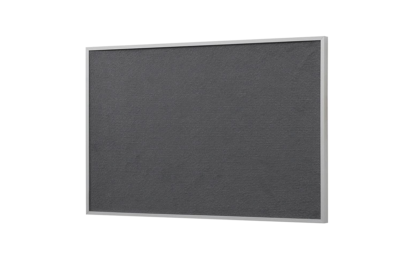 Bi-Office New Basic 585 x 385 mm Tablero de fieltro gris marco de color blanco