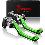 MZS Pivot Levers Brake Clutch CNC Green Compatible with KLX140 2008-2020/ KLX140L 2008-2020/ KLX140G 2017-2020