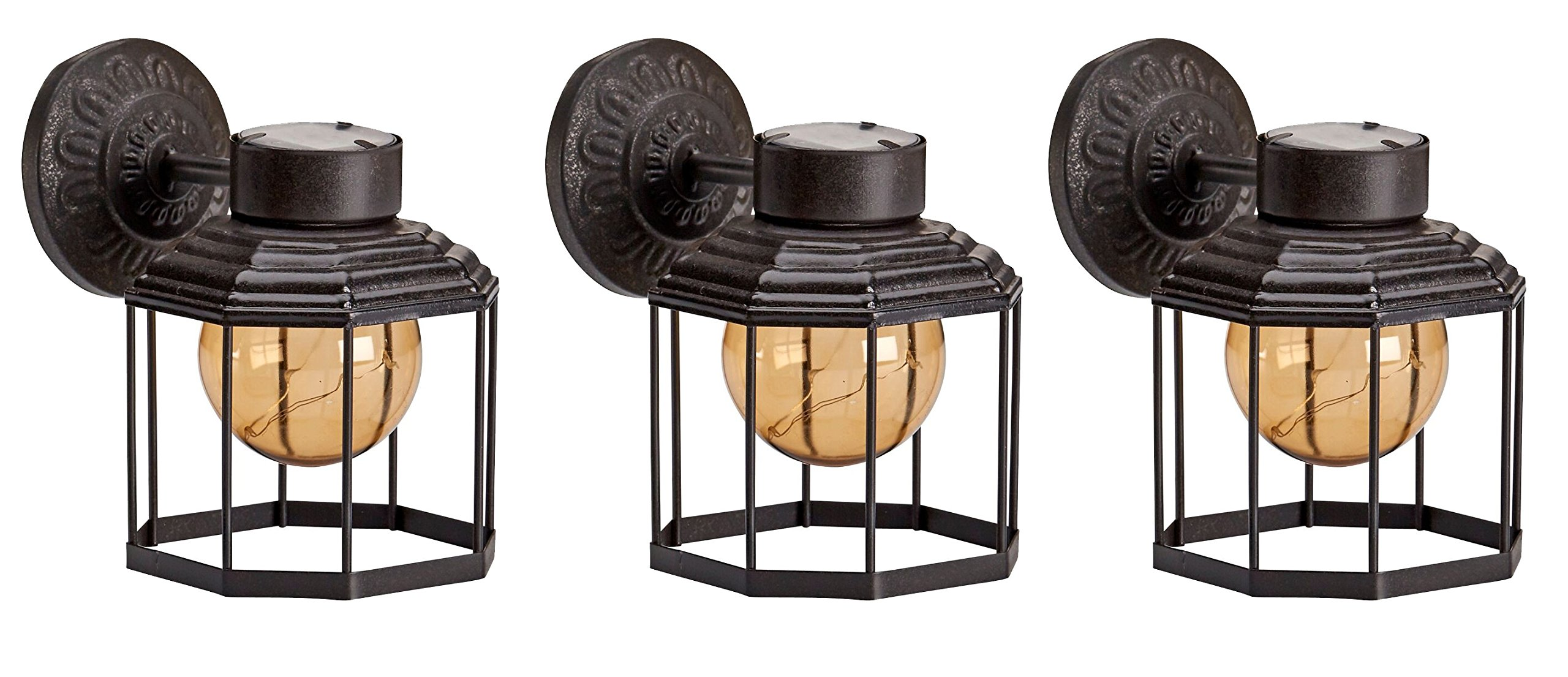 Solar Metal Lantern - Bundle of 3 -Newport by Original Treasures