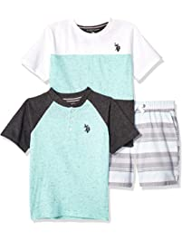 1e7e6c58 U.S. Polo Assn. Boys Sleeve T-Shirt, Henley, and Short Set