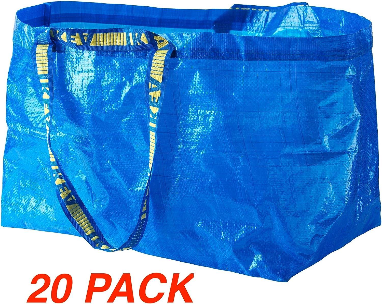 イケア 大容量 トートバッグ 5個セット Set of 20 ブルー