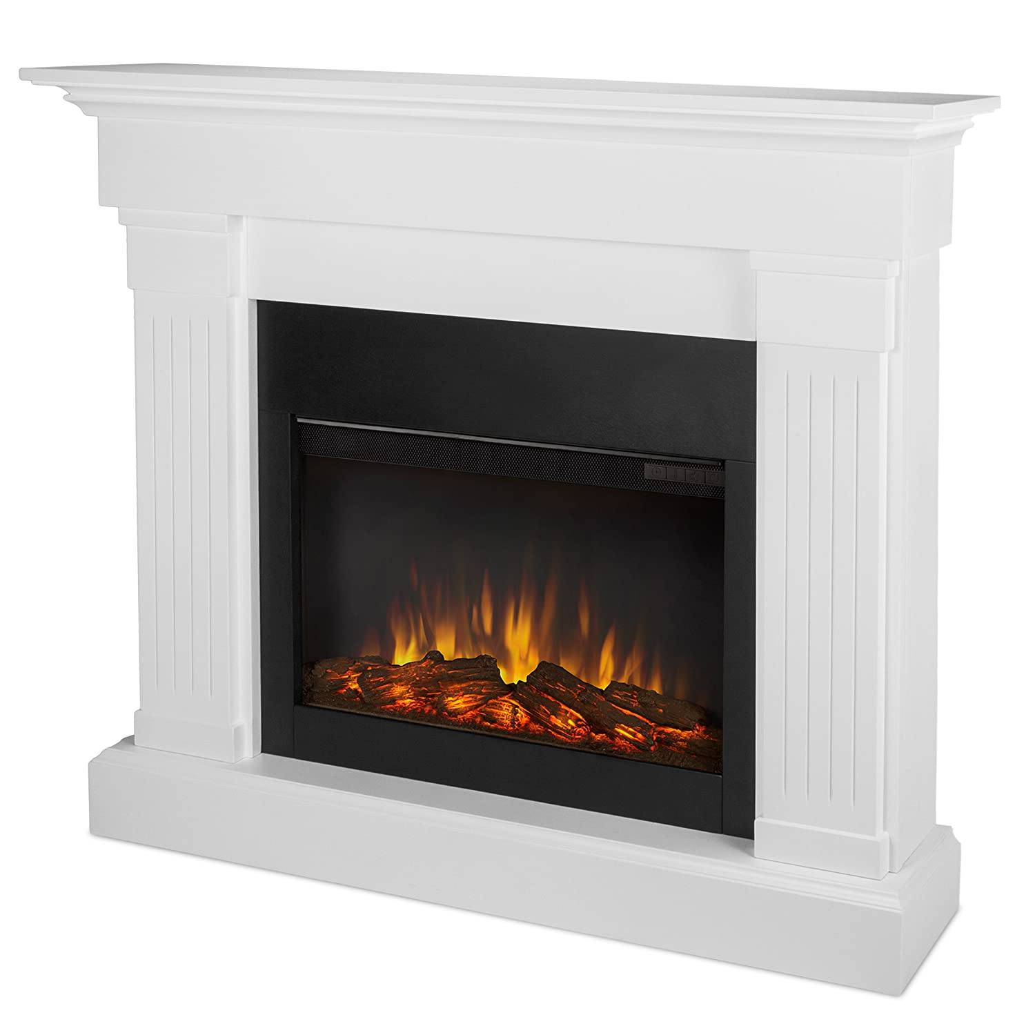 Real Flame 8020E W Crawford Electric Fireplace, White